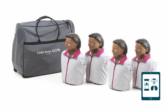 Little Anne® QCPR Training Manikin 4-Pack (Dark Skin)