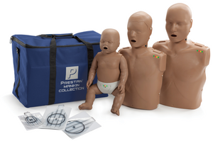 Prestan Professional CPR-AED Training Manikin (Dark Skin, with CPR Monitor) Collection