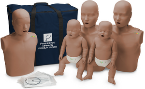 Prestan Professional CPR-AED Training Manikin (Dark Skin, with CPR Monitor) Family Pack