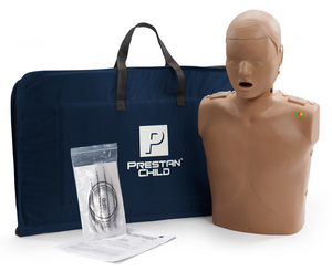 Prestan Professional Child CPR-AED Training Manikin (Dark Skin, With CPR Monitor)