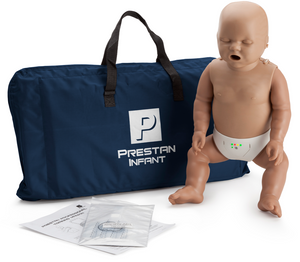 Prestan Professional Infant CPR-AED Training Manikin (Dark Skin, With CPR Monitor)