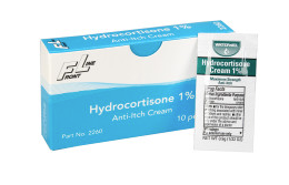 Hydrocortisone Cream, 0.9gm, 10 packets per box