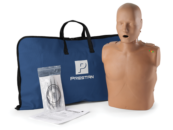 Prestan Professional Adult CPR-AED Training Manikin (Dark Skin, with CPR Monitor)