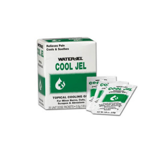 Water Jel Brand Cool Jel Burn Relief, 3.5 gm. - 25 per box
