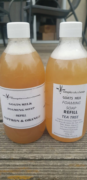 simplenakedsoap goat milk foaming hand wash refill