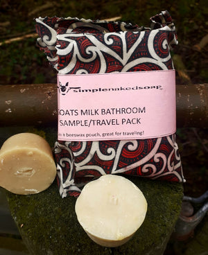 simplenakedsoap goat milk shampoo bar sampler pack