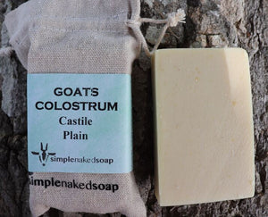 GOATS Milk Colostrum Castile Soap