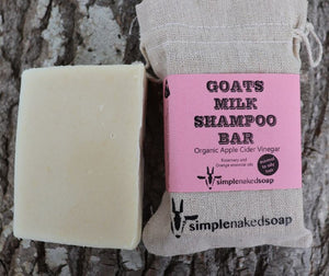 simplenakedsoap goat milk apple cider shampoo bar rosemary and orange