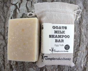 simplenakedsoap goat milk egg yolk shampoo bar dry hair
