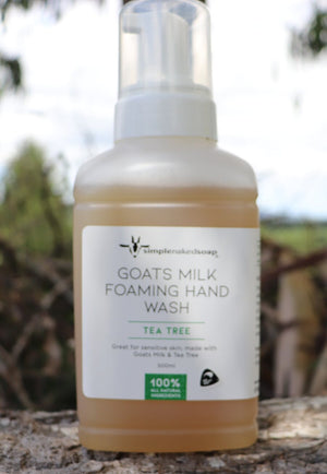 simplenakedsoap goat milk foaming hand wash tea tree large