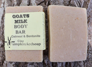 simplenakedsoap goat milk oatmeal and bentonite clay body bar eczema psoriasis