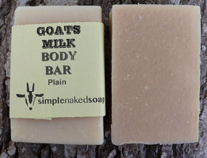 simplenakedsoap goat milk soap plain body bar