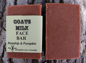 simplenakedsoap rosehip and pumpkin face bar a creamy nourishing face bar suitable for rosacea