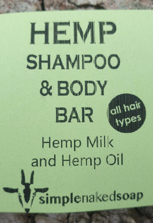 simplenakedsoap Hemp Milk shampoo and body premium vegan bar