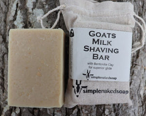 simplenakedsoap goat milk shaving bar