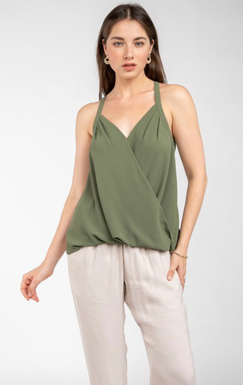 SURPLICE TANK TOP - FALL COLORS - RETAIL STORE