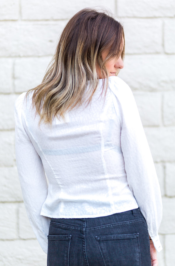 TIE FRONT TOP-WHITE