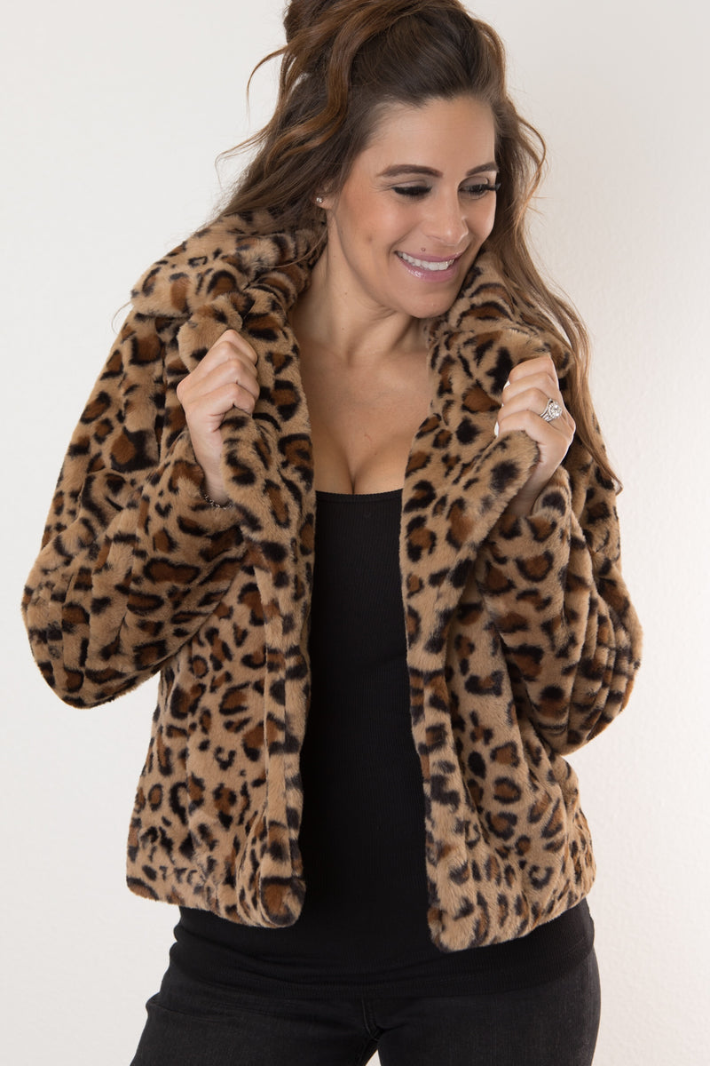 COZY LEOPARD  JACKET