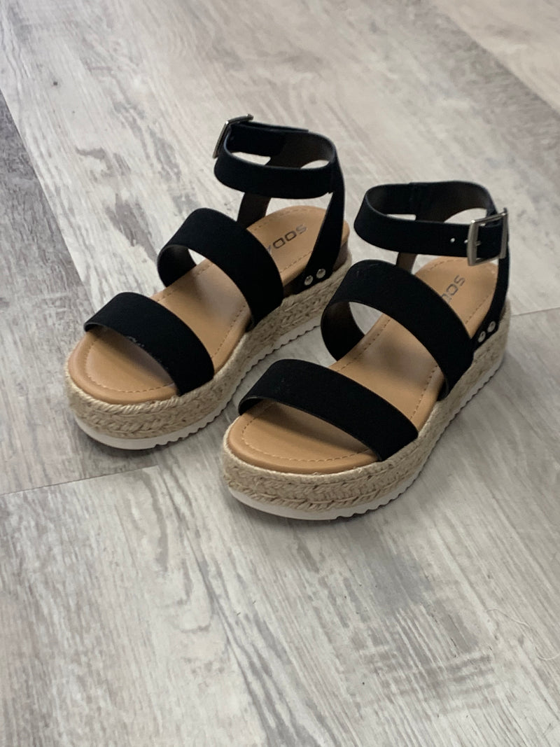 ESPADRILLE SANDAL - AVAILABLE IN TAN AND BLACK - RETAIL STORE