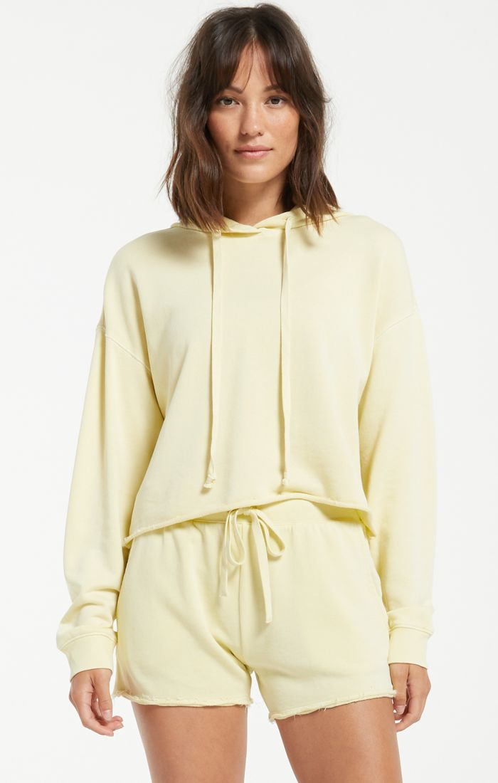 Z SUPPLY GIA WASHED HOODIE - KEY LIME