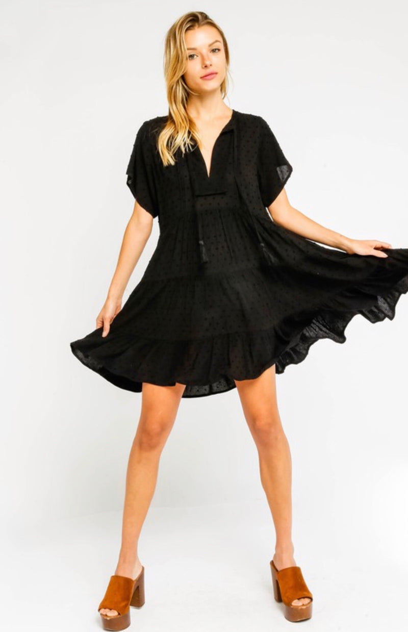 BABYDOLL DRESS - BLACK - RETAIL STORE