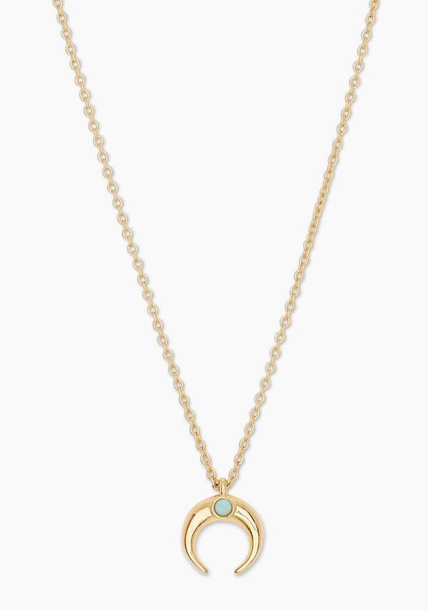 GORJANA CAYNE CRESCENT CHARM ADJUSTABLE NECKLACE - GOLD - RETAIL STORE