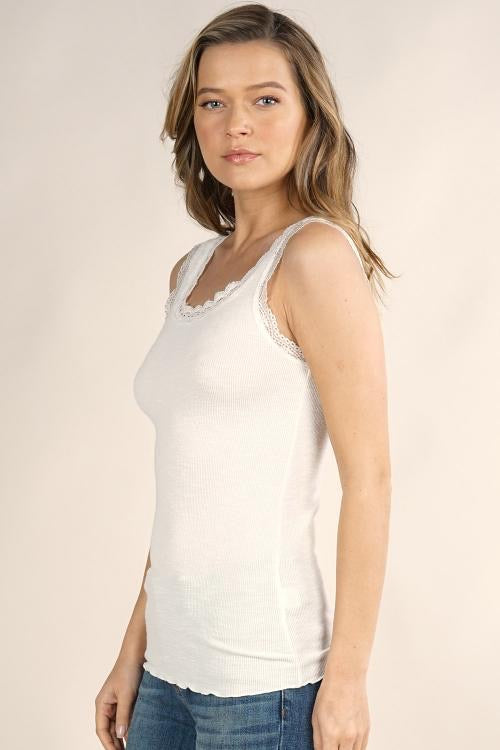 KNIT CAMI - AVAILABLE IN WHITE AND BLACK - RETAIL STORE