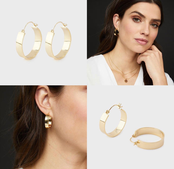 GORJANA JAX SMALL HOOPS - GOLD - RETAIL STORE