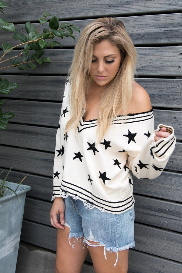 ALL IN THE STARS SWEATER
