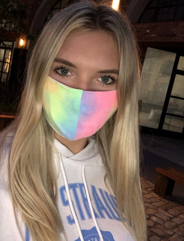 FACE MASK WITH POCKET FOR FILTER- NEON- RETAIL STORE