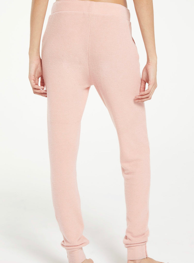 Z SUPPLY HOMEY RIB JOGGER - ROSEY PINK & COCOA - RETAIL STORE