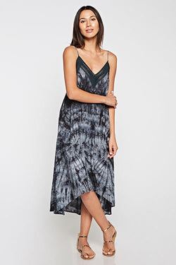 TIE DYE V-NECK DRESS - AVAILABLE IN CHARCOAL & NAVY - RETAIL STORE