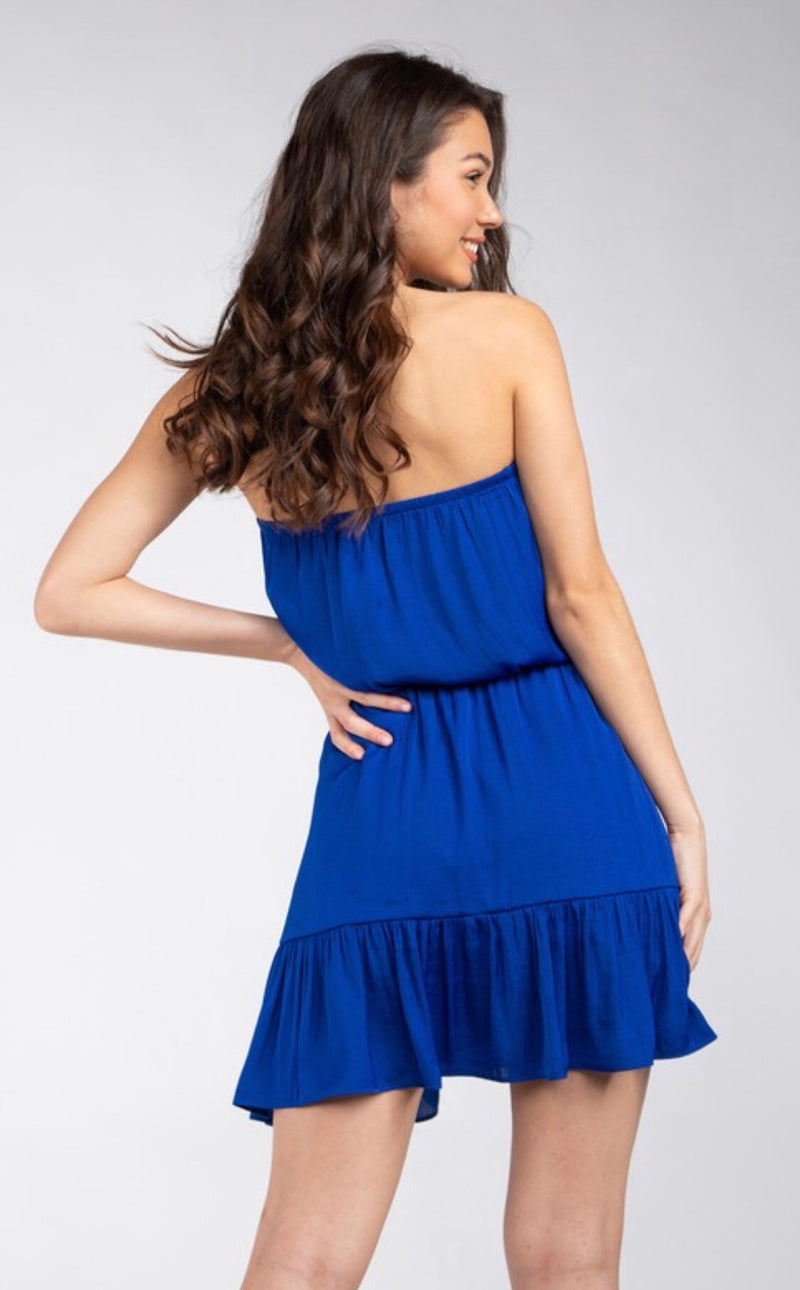 TUBE TOP MINI DRESS - AVAILABLE IN 5 COLORS - RETAIL STORE
