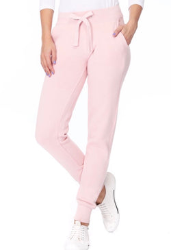 FLEECE JOGGERS W/ POCKETS - BLUSH PINK- RETAIL STORE
