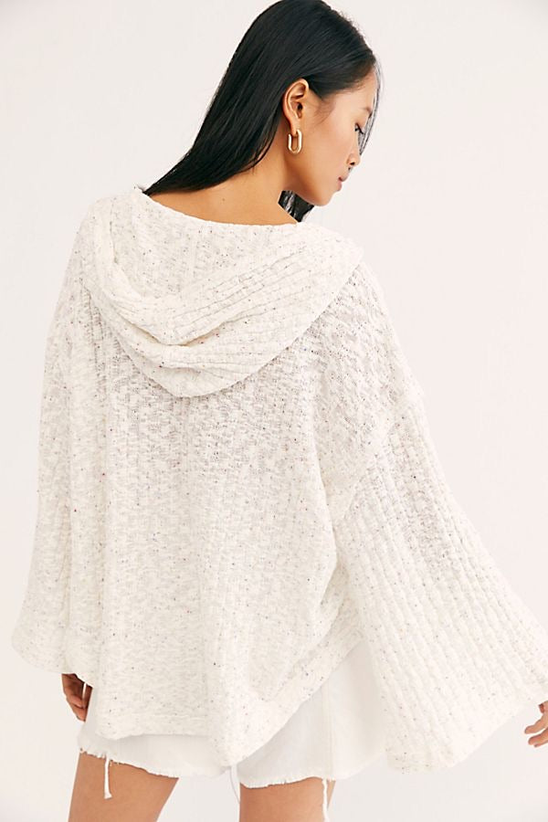 Free People BEACH PONCHO - AVAILABLE IN RED AND IVORY - RETAIL STORE