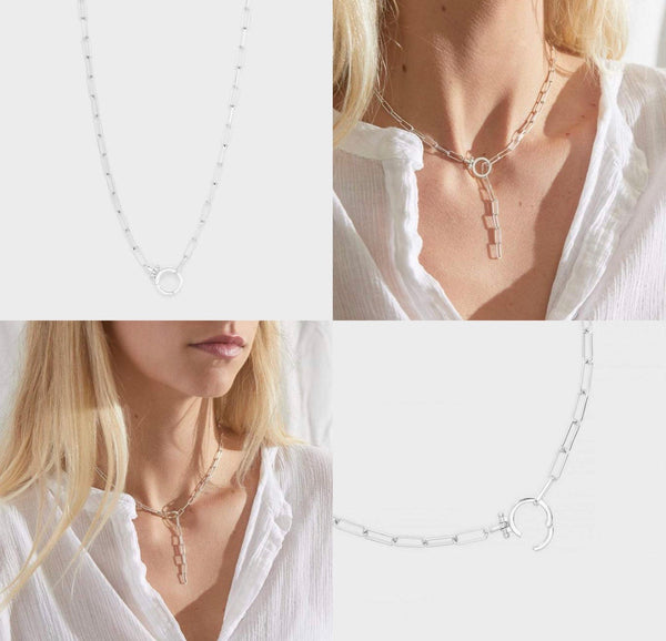 GORJANA PARKER NECKLACE - SILVER - RETAIL STORE