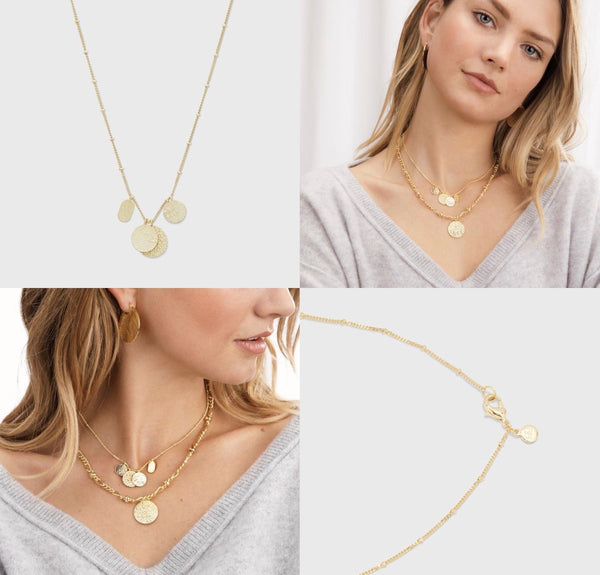 GORJANA BANKS MIXED COIN NECKLACE - GOLD - RETAIL STORE