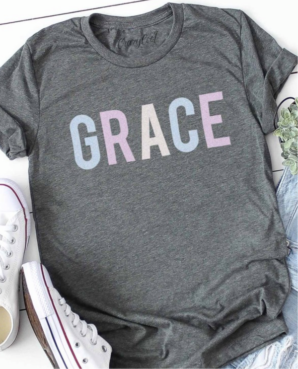 GRACE T SHIRT - HEATHER GREY - RETAIL STORE