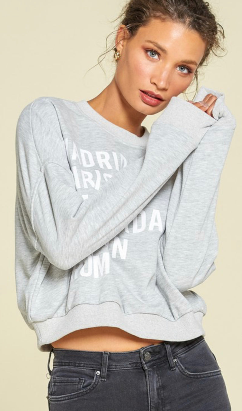 EUROPEAN CITIES SWEATSHIRT - HEATHER GREY - RETAIL STORE