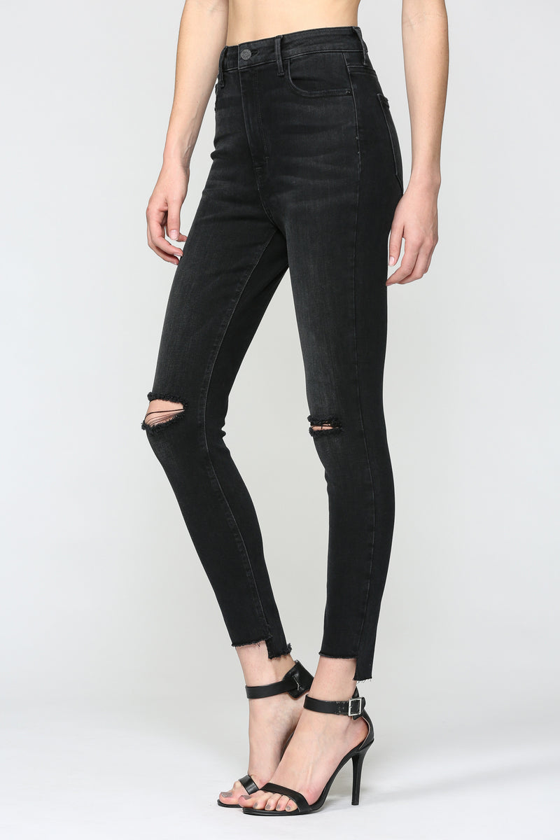 TAYLOR HIGH-RISE SKINNY JEANS - BLACK - RETAIL STORE