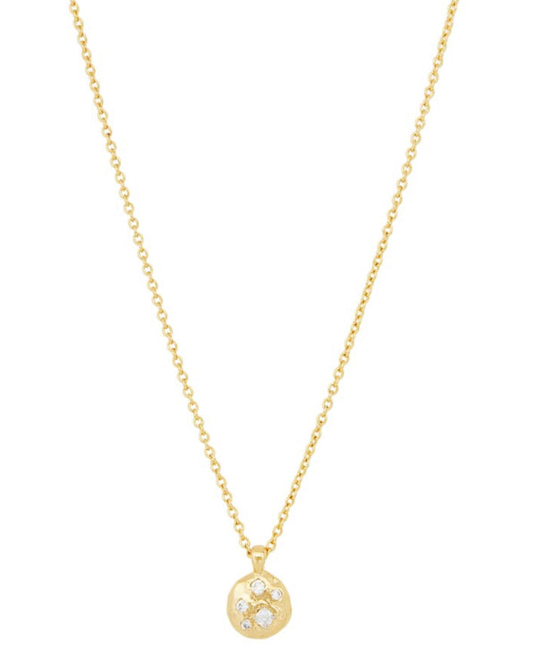 GORJANA COLLETTE CIRCLE ADJUSTABLE NECKLACE - GOLD - RETAIL STORE