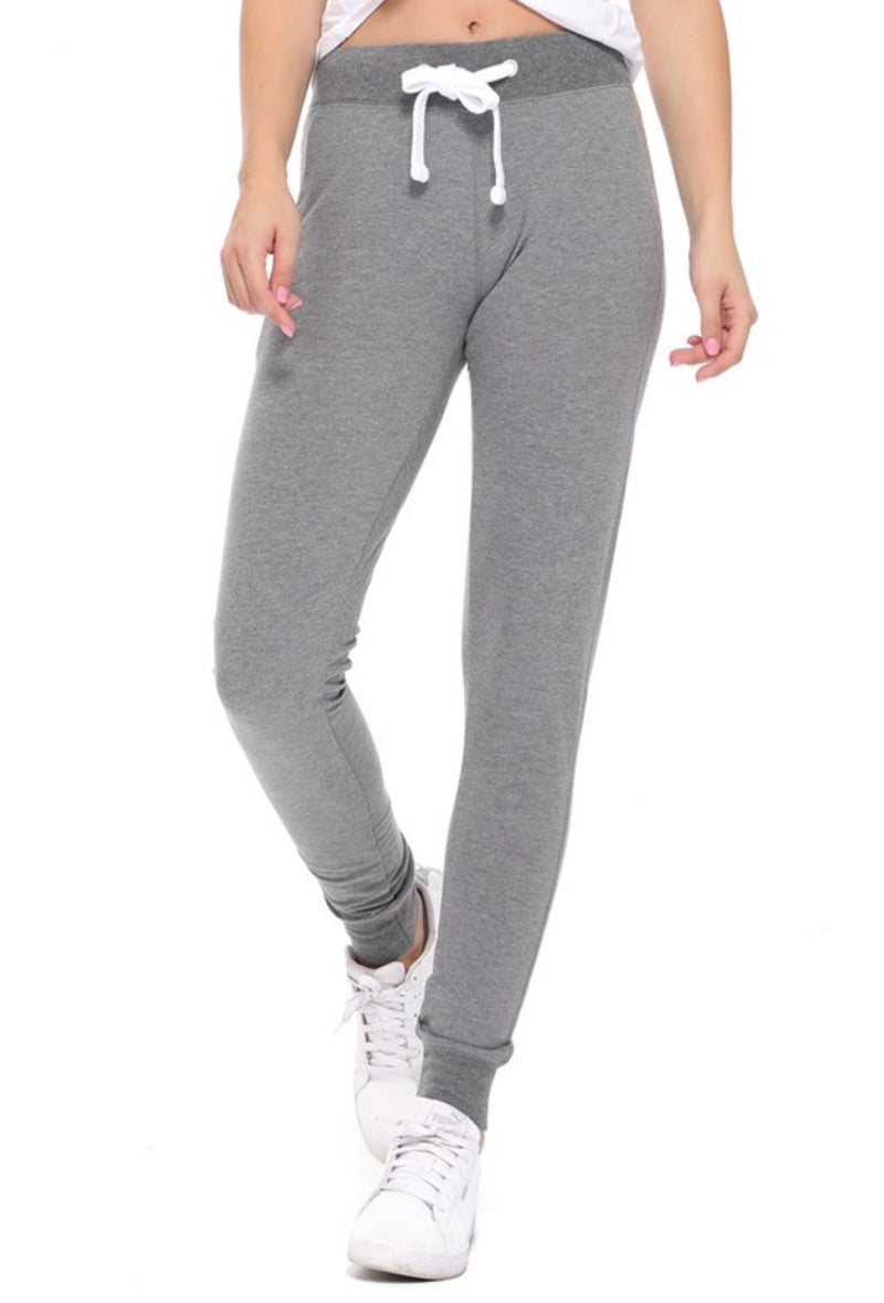 JOGGERS - DRAWSTRING WAIST - AVAILABLE IN DARK HEATHER GREY - BLACK - RETAIL STORE
