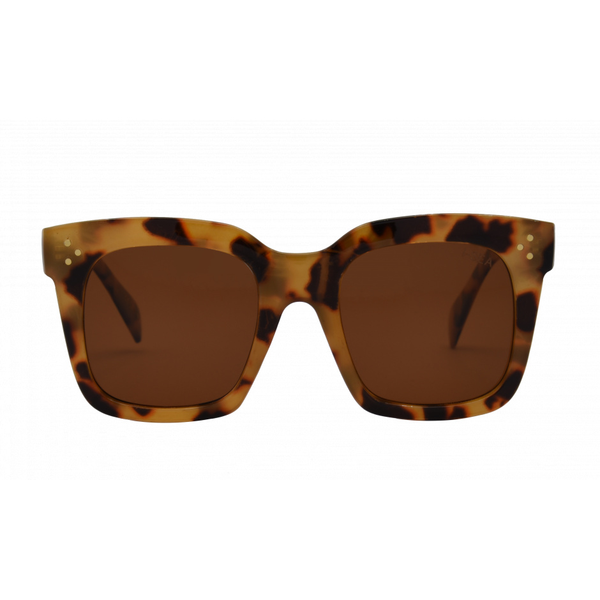 I-SEA WAVERLY SUNGLASSES - YELLOW TORT/BROWN POLARIZED LENS
