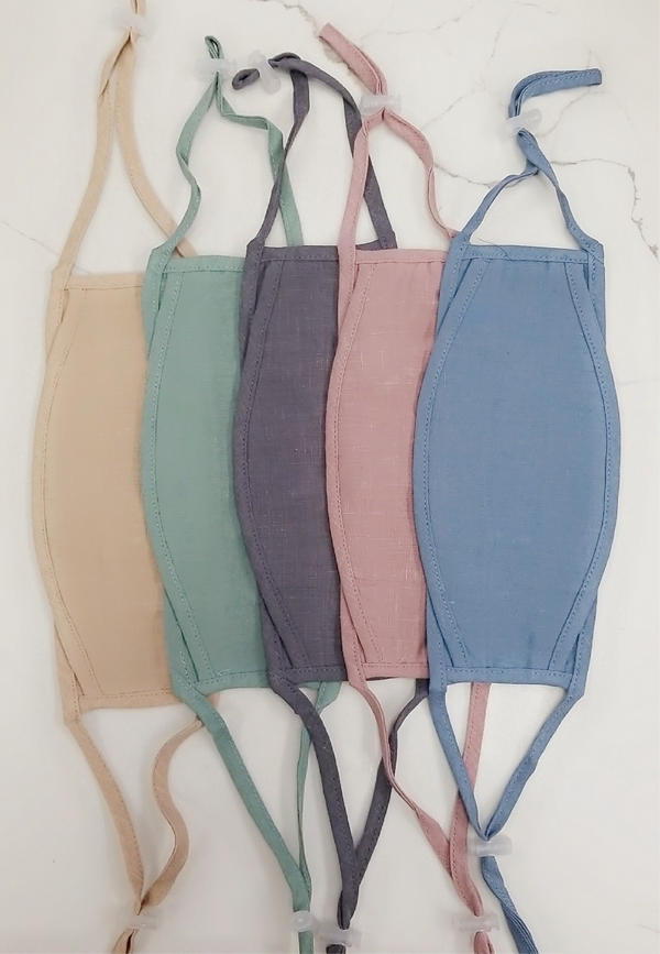 TENCEL LINEN FACE MASKS - AVAILABLE IN 5 COLORS - RETAIL STORE