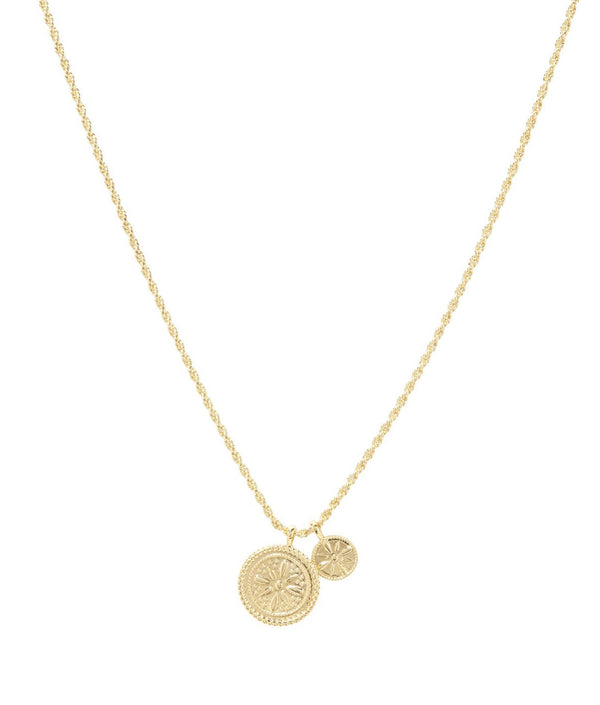 GORJANA FIORE COIN NECKLACE - GOLD - RETAIL STORE