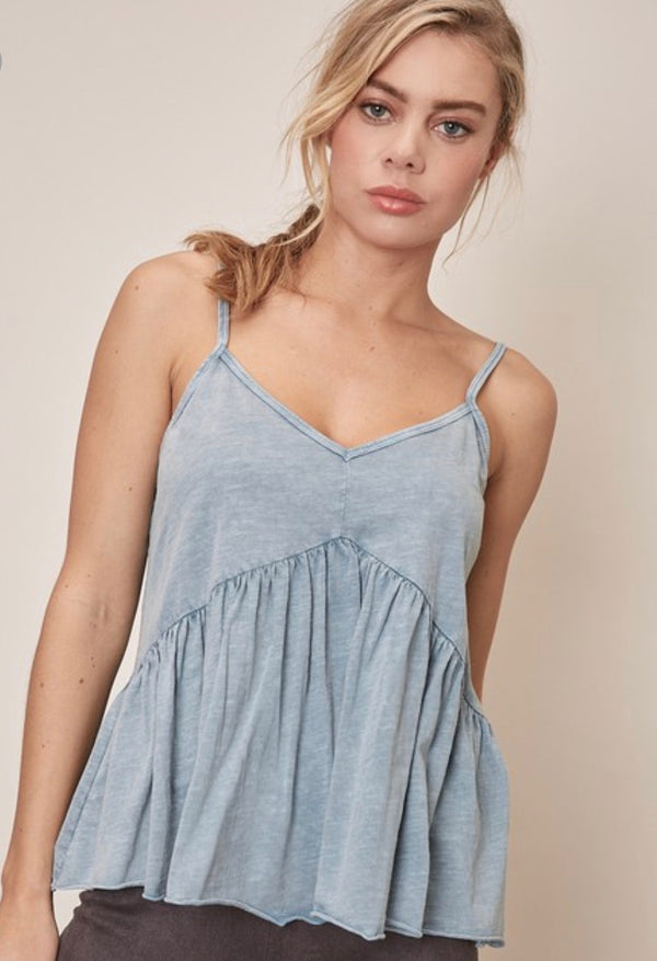 BABYDOLL TANK TOP - LIGHT BLUE - RETAIL STORE