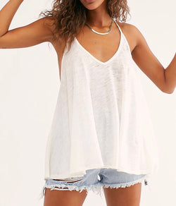 FREE PEOPLE SANDY TANK - AVAILABLE IN BLACK, WHITE, MOSS, PINK  AND YELLOW - RETAIL STORE