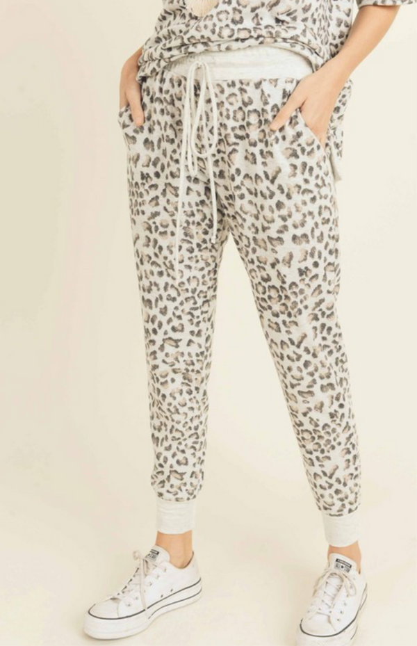 LEOPARD PRINT JOGGERS ONLY - RETAIL STORE