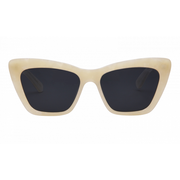 I-SEA OLIVE SUNGLASSES - CREME/SMOKE POLARIZED