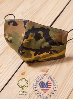 FACE MASK W/ POCKET FOR FILTER - CAMO - RETAIL STORE